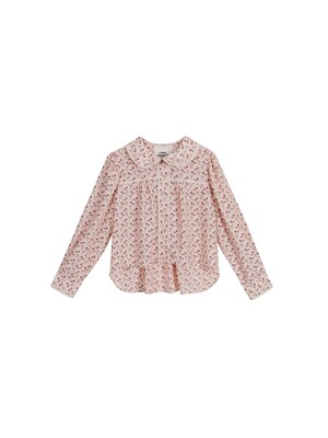 Leegoc flower lace blouse - Pink