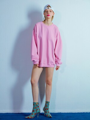 Overfit sweat shirt 002 Pink