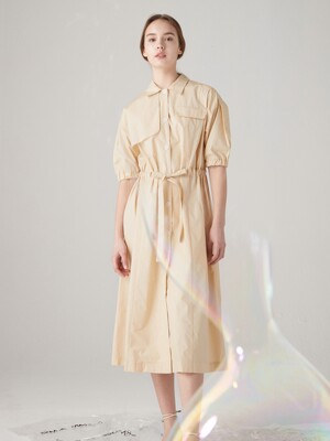 Summer trench onepiece - Custard yellow