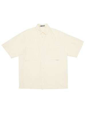 TWO POCKET IVORY BLEACHED SHIRT