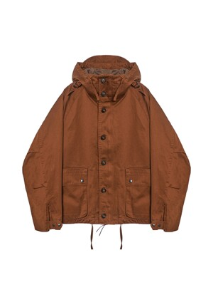 FOUL WEATHER PARKA / BROWN BACKSATIN