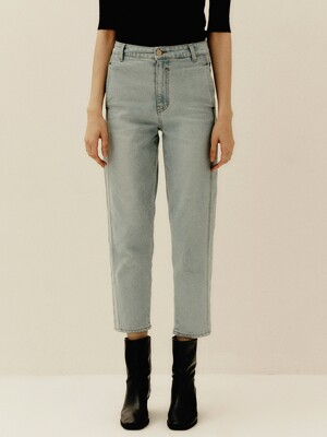 High-rise Regular Jeans_L.blue