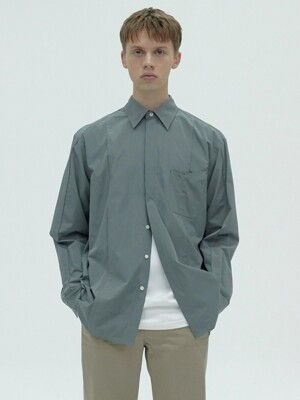 STITCH POCKET SHIRT - GREY