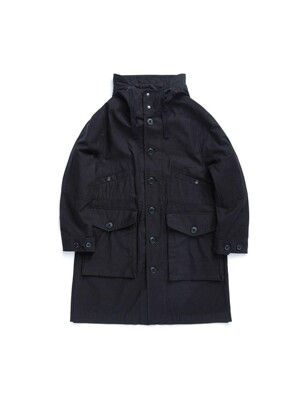 ECW PARKA / BLACK HEAVY BACKSATIN