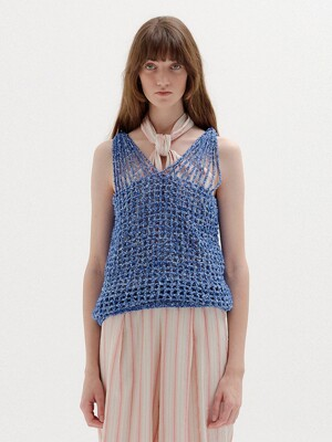 SUNRISE Handmade Net Top - Blue