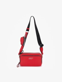PANINI metal logo solid bag (Red)